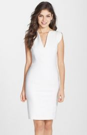 French Connection and39Loloand39 Split Neck Sheath Dress at Nordstrom