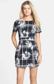 French Connection and39Wilderness Checkand39 Print Fit andamp Flare Dress at Nordstrom