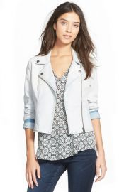 Frenchiand174 Denim Moto Jacket at Nordstrom
