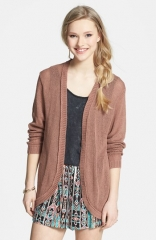Frenchiand174 Open Front Cardigan in cognac at Nordstrom