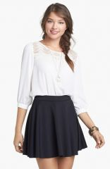 Frenchiand174 Skater Skirt in black at Nordstrom