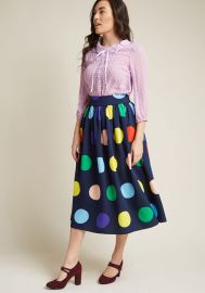 Friends Over Pho Midi Skirt at ModCloth