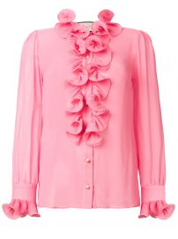 Frill Embroidered Blouse by Gucci at Farfetch