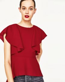 Frilled Top at Zara