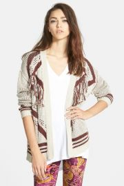 Fringe Open Cardigan Juniors at Nordstrom Rack