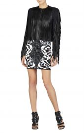 Fringe Trim Jacket at Bcbg
