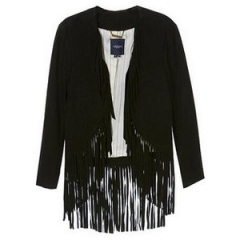Fringe jacket at Chic Downtown