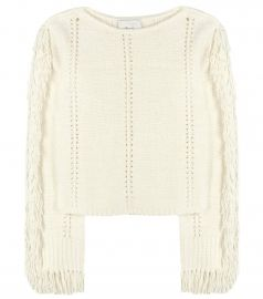 Fringed sweater at Mytheresa