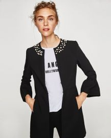 Frock Coat with Faux Pearls Jacket by Zara at Zara