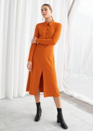 Front Slit Midi Dress by & Other Stories at & Other Stories