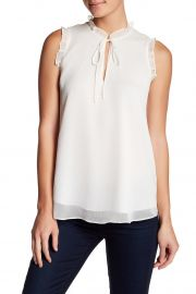 Front Tie Ruffle Trim Blouse by Haute Hippie at Nordstrom Rack