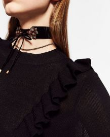 Front bow choker at Zara