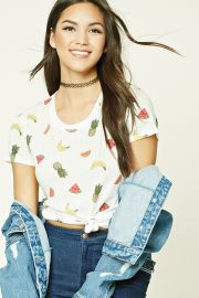 Fruit Print Tee   Forever 21 - 2000191839 at Forever 21