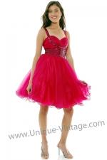 Fuchsia prom dress at Unique Vintage