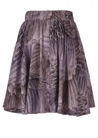 Full pleat skirt feather print at Seven7