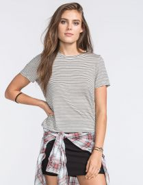 Full Tilt Striped Fitted Tee at Tillys