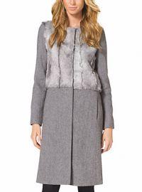 Fur Panel Coat at Michael Kors