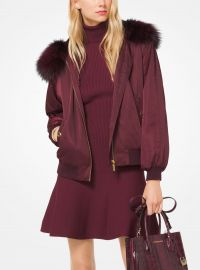 Fur-Trimmed Bomber Jacket by Michael Michael Kors at Michael Kors