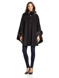 Fur trim cape at Amazon
