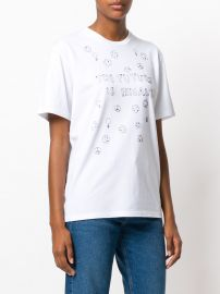 Future is Female embroidered T-shirt at Farfetch