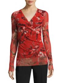 Fuzzi - Humming Bird Print Surplice Top at Saks Fifth Avenue