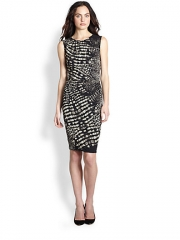 Fuzzi - Sleeveless Ruched Croc-Print Dress at Saks Fifth Avenue