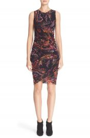 Fuzzi Paisley Print Tulle Sheath Dress at Nordstrom