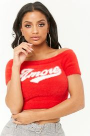 Fuzzy Amore Graphic Crop Top at Forever 21