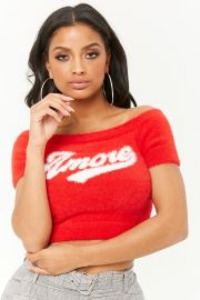 Fuzzy Amore Graphic Crop Top by Forever 21 at Forever 21