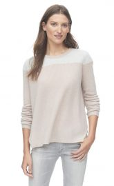 Fuzzy blocked cashmere sweater at Rebecca Taylor