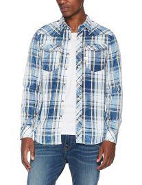 G-Star Men s 3301 Blue Shirt 100  Cotton at Amazon