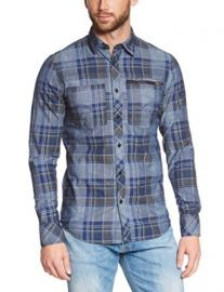 G-Star Menand39s Attacc Long-Sleeve Button-Up Shirt at Amazon