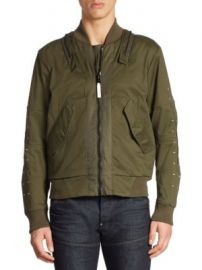 G-Star RAW - Cotton-Blend Bomber Jacket at Saks Fifth Avenue