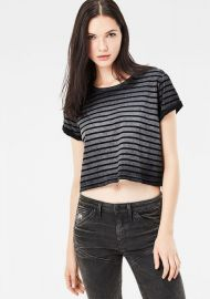 G Star Raw Eva Striped T-shirt at G Star