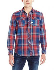 G-Star Raw Men s Landoh Indigo Meto Flannel Check Shirt at Amazon