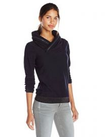 G-Star Raw Womenand39s Flor Collar Long Sleeve Sweatshirt Mazarine Blue Heather X-Small at Amazon