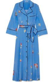 GANNI   Joycedale floral-print silk crepe de chine maxi dress at Net A Porter