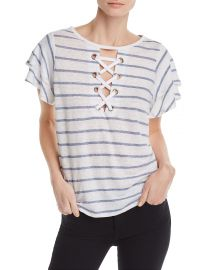 GENERATION LOVE KIKI LACE-UP STRIPED TEE at Bloomingdales