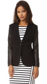 GETTING BACK TO SQUARE ONE Blazer with Leather at Shopbop