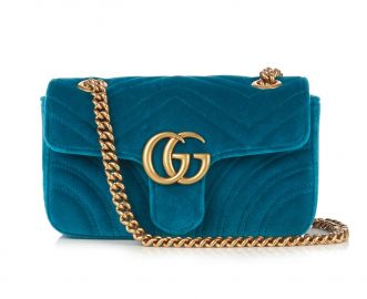 GG Marmont mini quilted-velvet cross-body bag at Matches