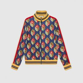 GG Wallpaper technical jersey jacket at Gucci