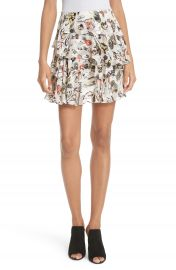 GREY Jason Wu Painterly Floral Print Skirt at Nordstrom