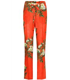 GUCCI Printed jacquard trousers at Mytheresa