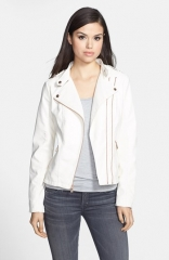 GUESS Faux Leather Moto Jacket at Nordstrom