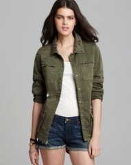 GUESS Jacket - Military Twill at Bloomingdales
