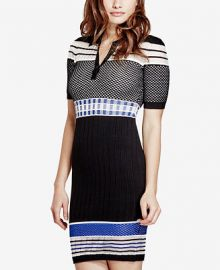 GUESS Jaymes Contrast Sweater Dress at Macys