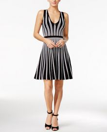 GUESS Mirage Striped Fit   Flare Dress at Macys