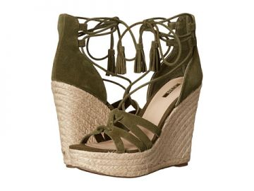 GUESS Ollina Green Suede at Zappos
