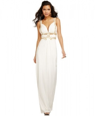 GUESS Sleeveless Beaded Cutout Gown - Women - Macys at Macys