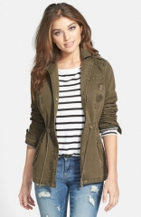 GUESS Studded Army Anorak at Nordstrom